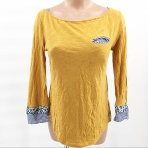 Anthropologie The Yellow Button Blouse Top